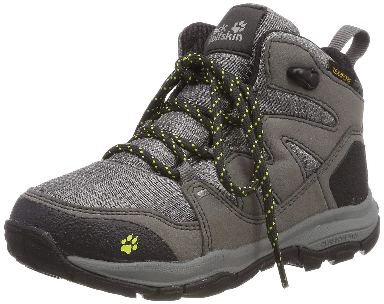 gris (Tarmac gris 6011) Jack Wolfskin MTN Attack 3 Texapore Mid K Wasserdicht, Chaussures de Randonnée Hautes Mixte Enfant 36 EU