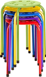 Norwood Commercial Furniture NOR-1101AC-SO Plastic Stack Stools, 17.75
