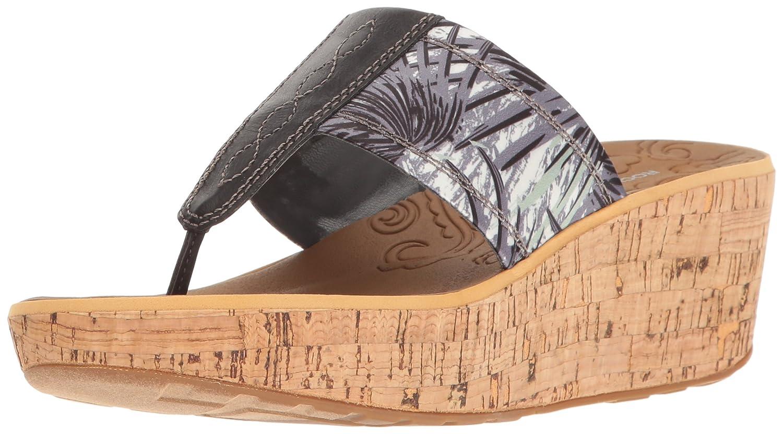 Rockport Women's Lanea Thong Platform Sandal B01JIPDSU6 7.5 B(M) US|Grey Floral