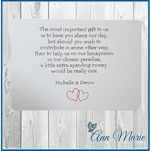 Poem To Ask For Money For Wedding Gift: Honeymoon Gift: Amazon.co.uk