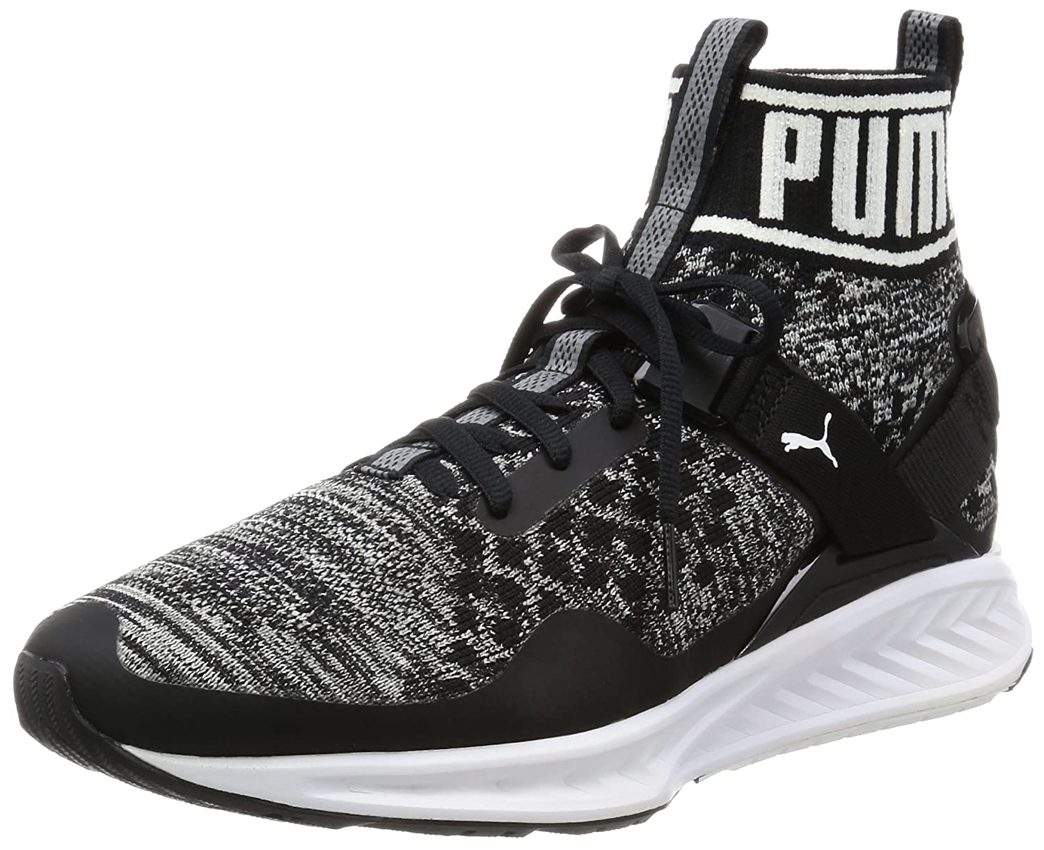 Puma Ignite Evoknit, Zapatillas de Running Unisex Adulto 43 EU|Negro (Black-quiet Shade-white)