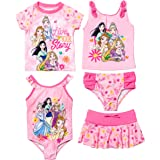 Rash Guard Tankini Skort One-Piece Bottom Dreamwave Toddler and Big Girl 5 Piece Swimsuit Set