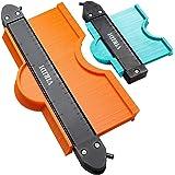 Contour Gauge With Lock, VIRIDI 2 pack 5 & 10 inch Widen Profile Gauges Measure Ruler Contour Duplicator Comb Tool for Copies