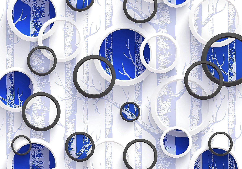 Wandmotiv24 Fototapete Grau Baum Kreise Ringe Abstrakt Wald Zweige M4065 XXL 400 x 280 cm - 8 Teile Wandbild - Motivtapete B07NF8K71T Wandtattoos & Wandbilder