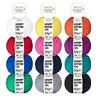 100% Baumwolle mercerisiert Bunter Mix - 600g Cotton (12 x 50g) - Oeko-Tex Standard 100 - glänzende Wolle zum Stricken & Häkeln - Baumwollgarn Set in 12 Farben by fairwool