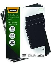 Fellowes Binding Linen Presentation Covers, Letter, Black, 200 Pack (5217001)
