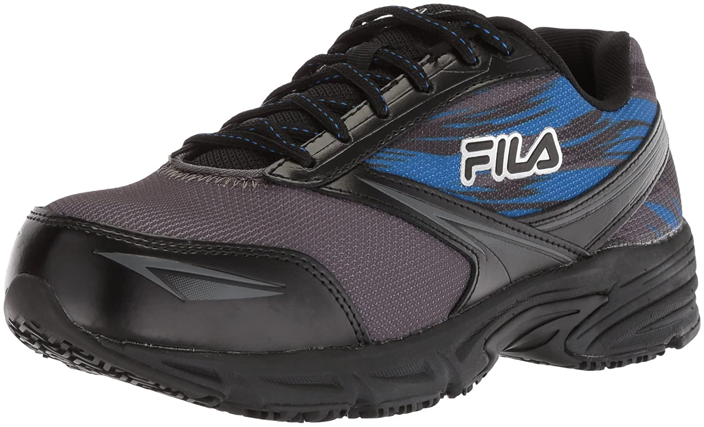 Fila Men's Memory Meiera 2 Slip Resistant and Composite Toe Work Shoe B0779LFYKX 11.5 D(M) US|Castlerock/Black/Prince Blue