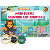 Logic Roots Math Puzzle for Kids - Counting Game for 3 - 5 Year Olds, 6 Foam Puzzles with 7-10 Pieces Each, Preschool / Monte