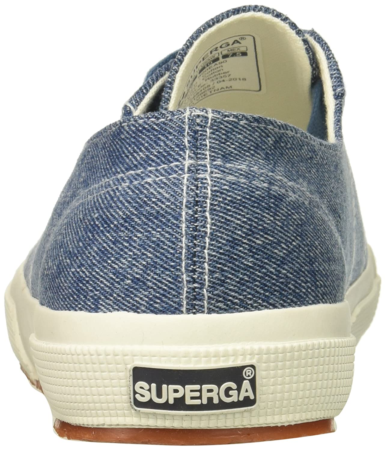 Superga Women's 2750 Coloreyedenimw Sneaker B078KDRYWC 39 M US|Denim Multi
