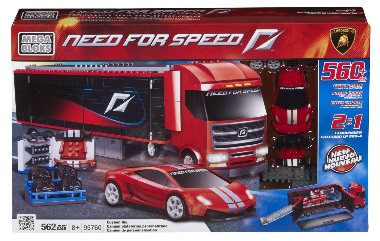 nueva gama alta exclusiva Mega Bloks 95760 Need For Speed Camión Camión Camión y Lamborghini  los nuevos estilos calientes