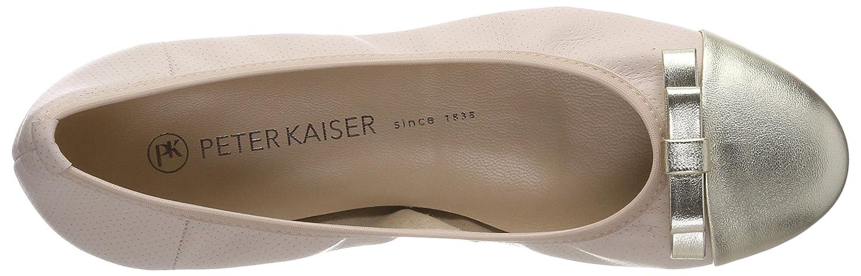 Peter Kaiser Ballerinas Damen Benita Geschlossene Ballerinas Kaiser Rot (Platin Corfu Powder Pin) bf6d4e