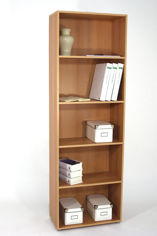 Deine-tante-emma  Regal Büroregal Bücherregal Office Buche Dekor B H T ca. 60 x 182 x 29,5 cm
