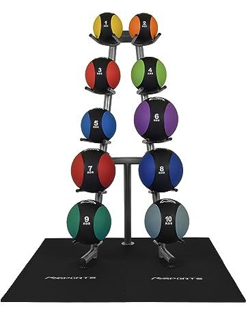 bc3e854140876 MSPORTS Medizinball 1 – 10 kg – Professionelle Studio-Qualität inkl.  Übungsposter Gymnastikbälle