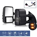 HF AUTOPARTS Compatible With 1999-2016 Ford Towing Mirrors, F250 F350 F450 F550 Super Duty Truck Pickup Side Tow Mirrors, Pow