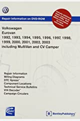 Volkswagen EuroVan 1992, 1993, 1994, 1995 1996, 1997, 1998, 1999 2000, 2001, 2002, 2003 including MultiVan and CV Camper Repair Manual on DVD-ROM (Windows 2000/XP) DVD-ROM