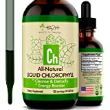 Chlorophyll Liquid Drops - 100% All-Natural Concentrate – Energy Booster, Digestion and Immune System Supports, Internal Deod