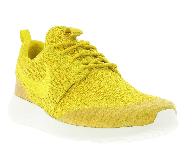 NIKE Womens Roshe One Flyknit Flyknit Colorblock Running Shoes B01HI9E1LE 8 B(M) US|Dorado (Gld Ld / Tr Yllw-unvrsty Gld-sl)