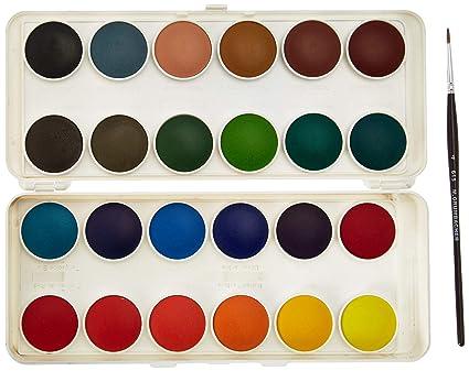 Grumbacher Transparent Watercolor Set 24 Colors Brush By