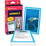 Carson Dellosa - Animals Flash Cards - 54 Cards for Toddler's First Animals, Recognition, Animal Facts, Science for Pre K and