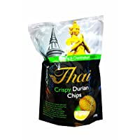 2 Packs of Crispy Durian Chips, Delicious Fruit Snack From My Choice Thai Brand,...