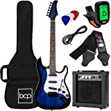 Best Choice Products 39in Full Size Beginner Electric Guitar Starter Kit w/Case, Strap, 10W Amp, Strings, Pick, Tremolo Bar -
