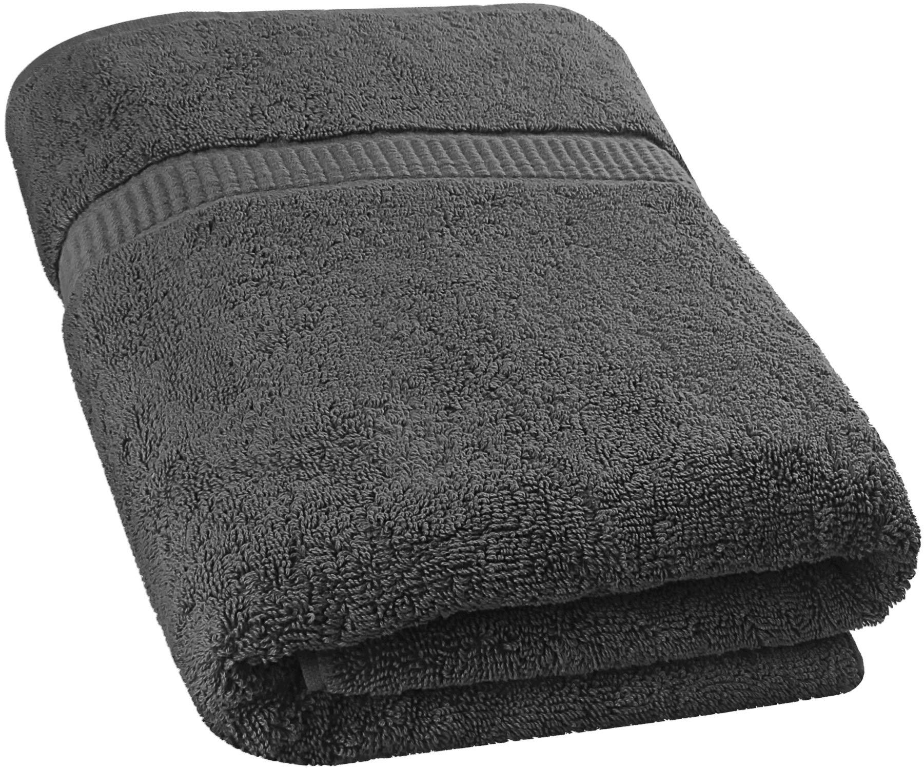 Utopia Towels - Toalla de baño Extra Grande y Suave Lavable en la Lavadora (89 x 178 cm) (Gris)