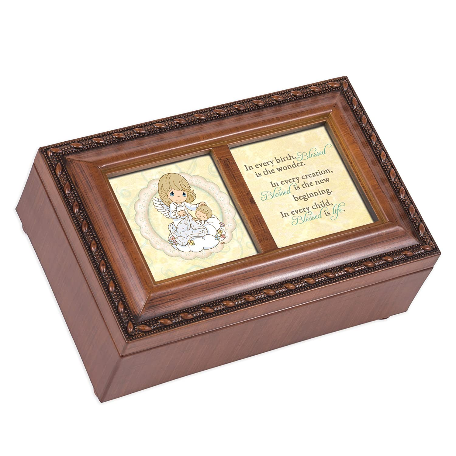 Cottage Garden Precious Moments Baby Inspirational Woodgrain Petite Music Box Gioca Gesus Loves Me