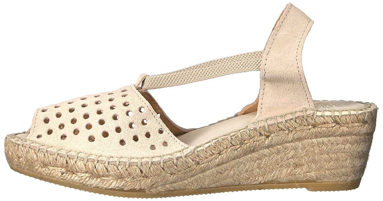Andre Assous Women's Corrine Espadrille Wedge Sandal B01G5YJY6K 38 M EU / 8 B(M) US|Taupe Suede