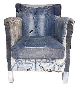 Sanskriti Overseas Wooden Upholstered Sofa (Reclaimed Denim)