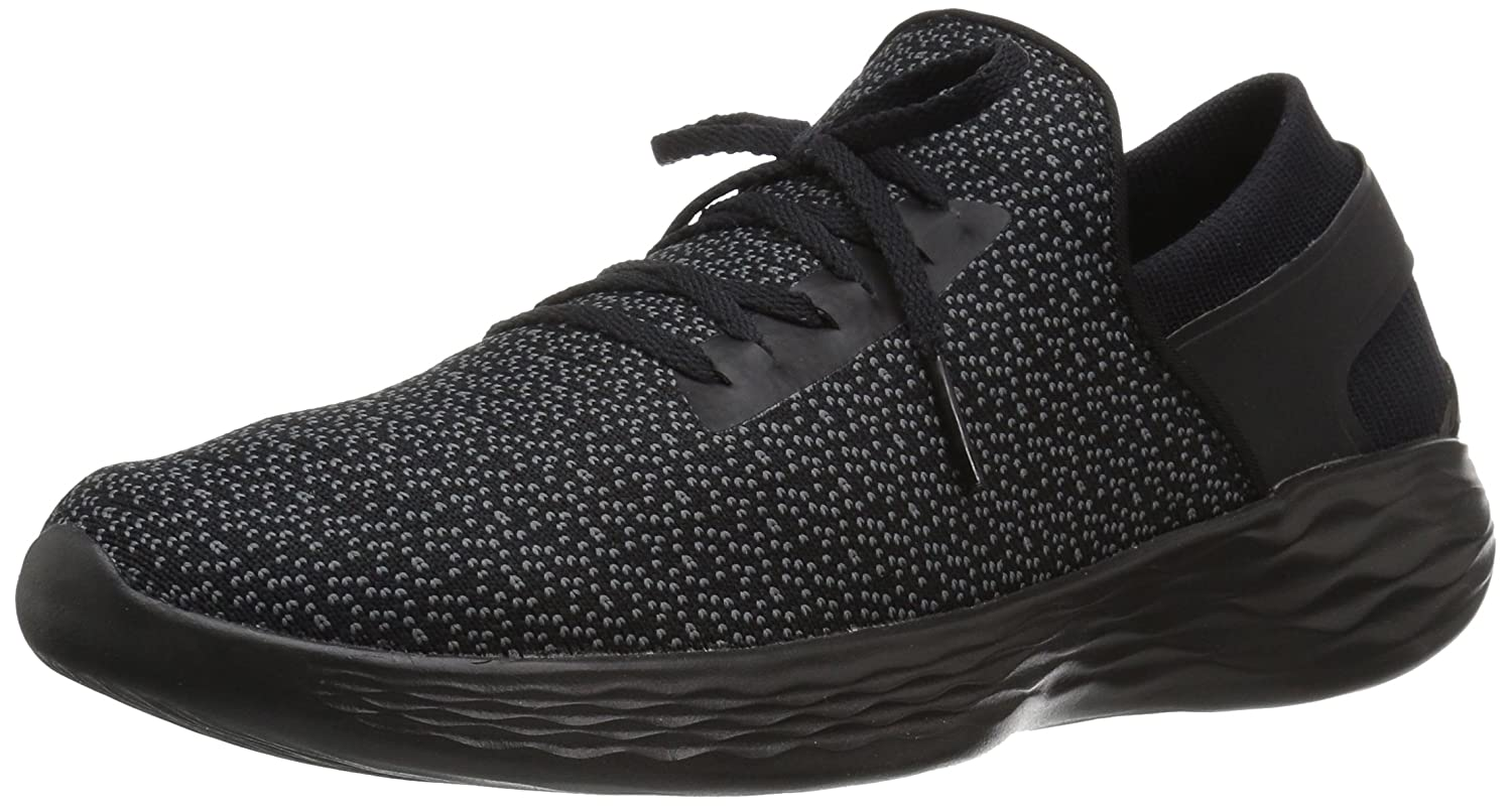 Skechers Women's You Inspire Slip-on Shoe B01MT93WT5 9.5 B(M) US|Black/Gray