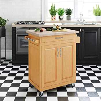 Amazon Com Home Styles 5040 95 Paneled Door Kitchen Cart