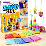 Made By Me Create Your Own Sand Art by Horizon Group Usa, DIY Kit Includes 4 Sand Bottles & 2 Pendent Bottles with 8 Bright S