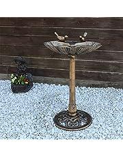CLGarden VGT4 Bains d'oiseaux Baume d'oiseaux Fontaine à oiseaux avec deux oiseaux décoratifs