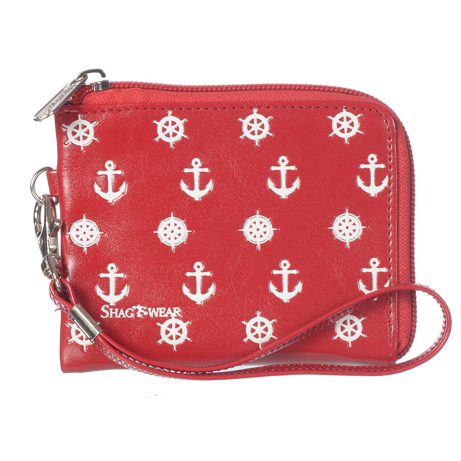 Anchors Red Shagwear Women's Birds and Insects Vegan Leather Clasp Coin Purse