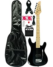 3/4 Viper Junior Electric Guitar Combo with Accessories and Amplifier-BLACK