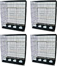YML Lot of 4 Large Breeding Cages, Black