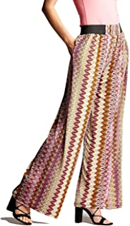 Conceited Premium Women's Palazzo Pants with Pockets - High Waist - Solid and Printed Designs