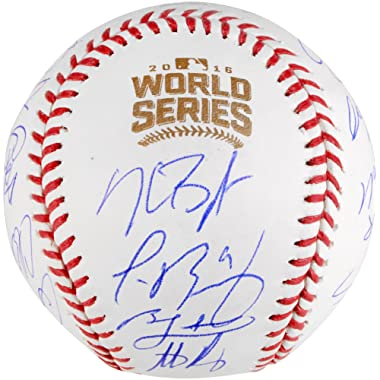 Chicago Cubs 2016 MLB World Series Champions Team Signed World Series Logo Baseball - Fanatics Authentic Certified
