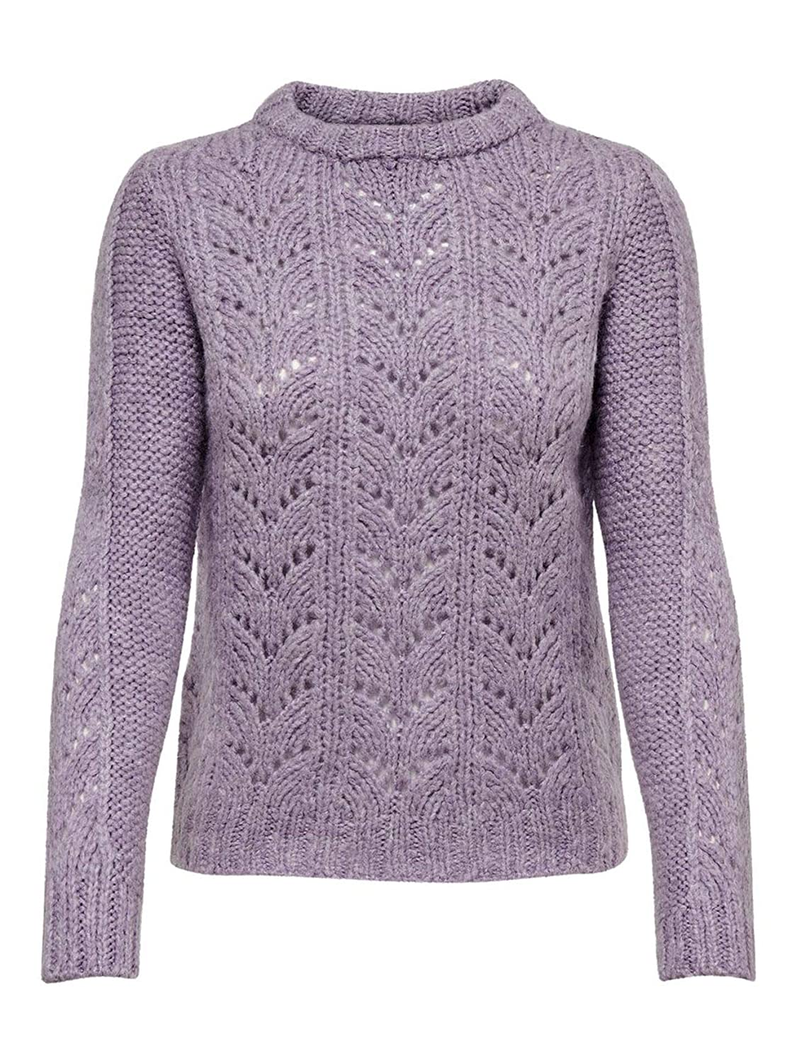 Only Women's 15179854PINK Pink Acrylic Jumper