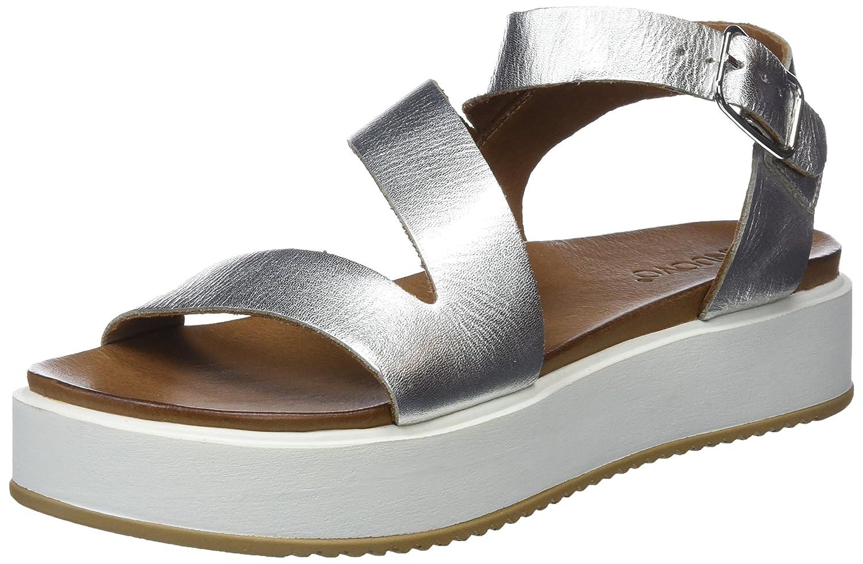 Inuovo 8722, Sandali con Cinturino alla Caviglia Donna  Argento (Silver )