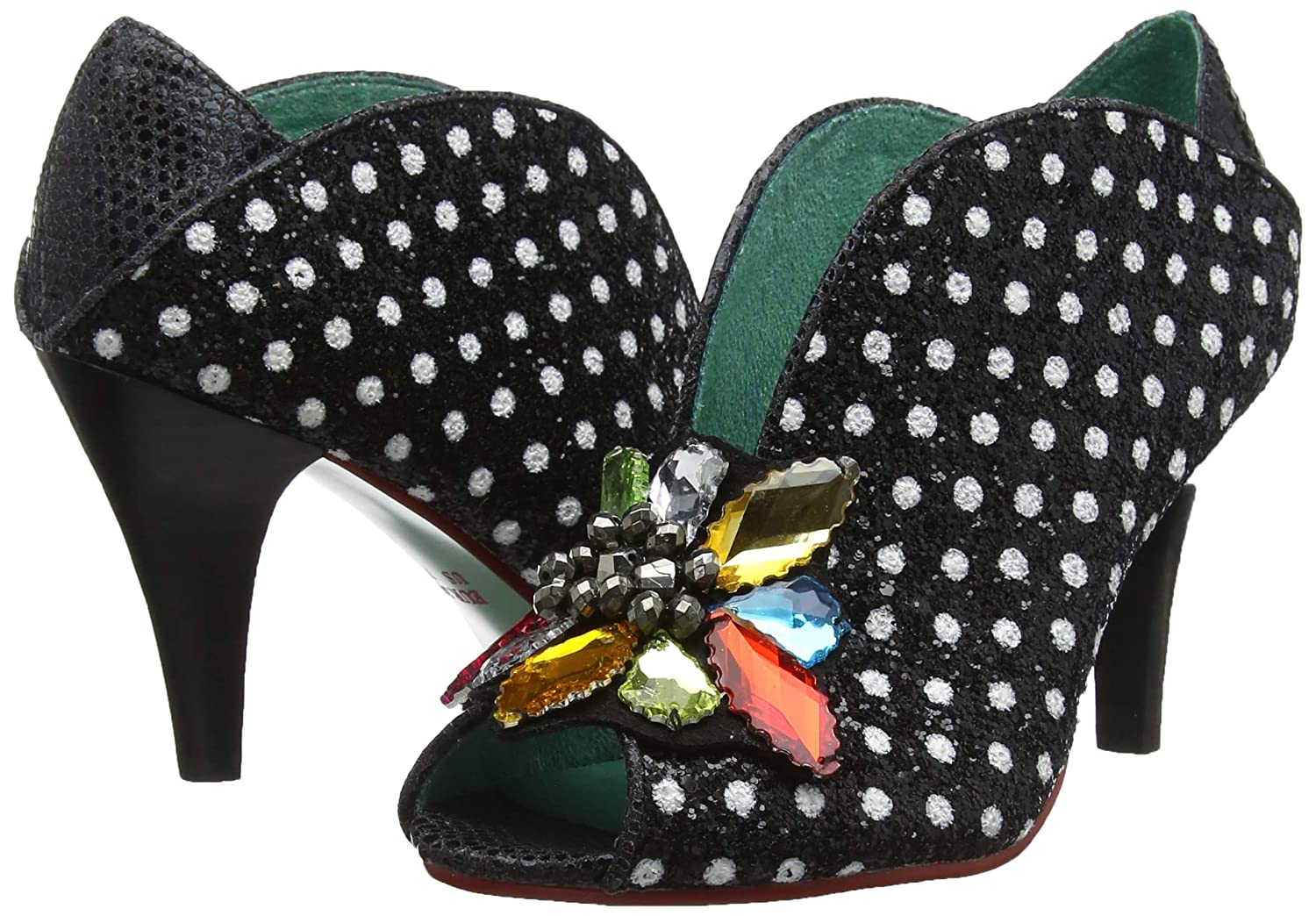 Poetic Licence by Irregular Choice Damen Madly in in in Love Peeptoe Pumps 33491e