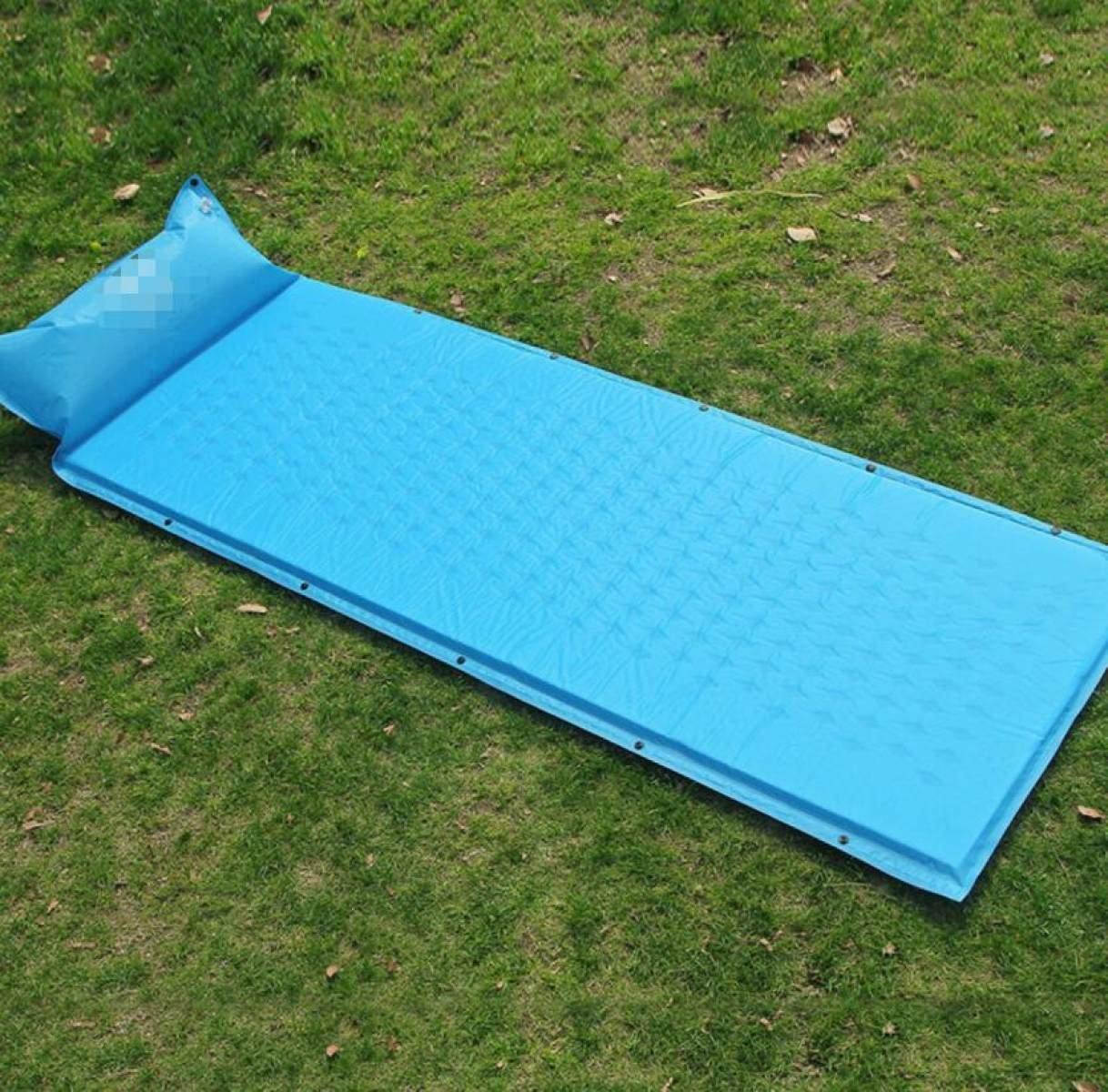 Outdoor Single Mit Kissen Kann Genäht Feuchtigkeitsfeste Pad Camping Sleeping Pad Automatische Aufblasbare Pad,A2