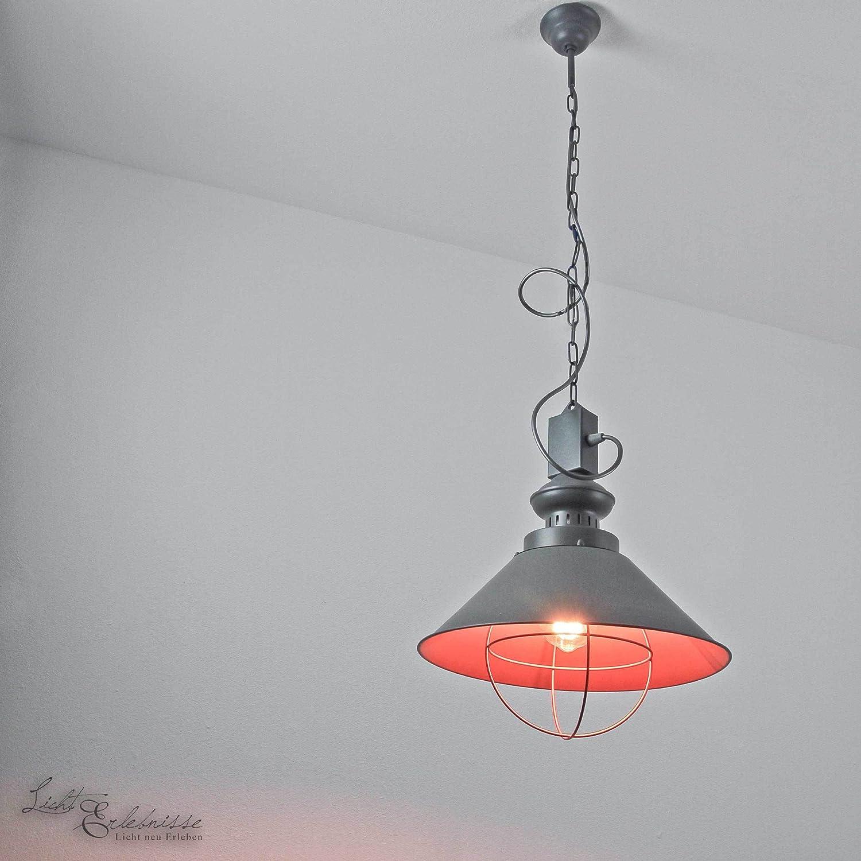 Pendelleuchte Industrie grau grau grau Loft Lampe Vintage Hä ...