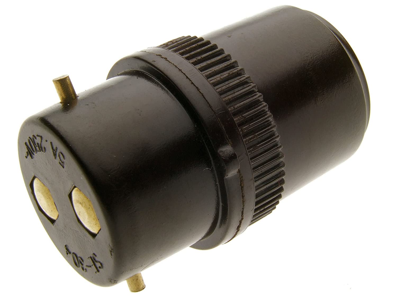 B22 Plug Bulb Socket Extension 5Amp Brown Bakelite Period Style ... for Bulb Holder With Plug  70ref