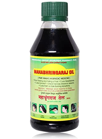 Amazon.com : Mahabhringraj Ramakrishna Pharma Scalp Maging Oil ...
