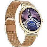 Reloj Inteligente Para Mujeres, Reloj De Seguimiento De Actividad FíSica Con Frecuencia CardíAca, Monitor De SueñO, Monitor D