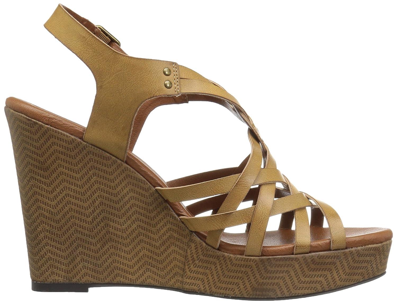 Dolce by Mojo Moxy Women's Safara Wedge Sandal B06XH9SX57 8 UK/US Size Conversion M US|Cognac