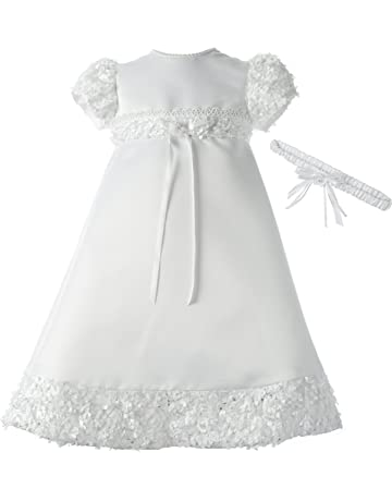 1fa9121e51fc Lauren Madison Baby-Girls Newborn Satin Dress Gown Outfit