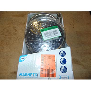 Moen 26008 Magnetix Handheld/Rain Shower Head 2-in-1 Combo Featuring Magnetic Holder Technology - Chrome