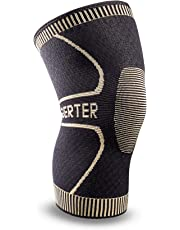 Berter Knee Support for Men & Women, Copper Ion Non-Slip Knee Compression Brace Sleeve for Running, Basketball, Hiking, Cycling, Volleyball, Gym, Sports Arthritis